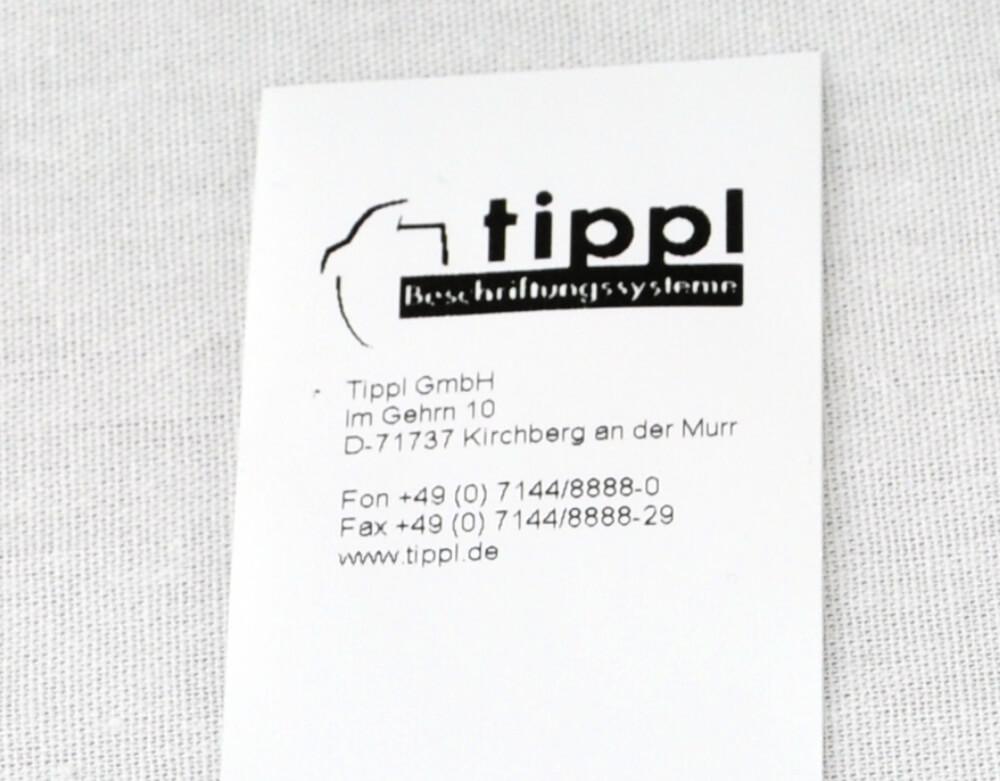 Beispiel Textiletikett