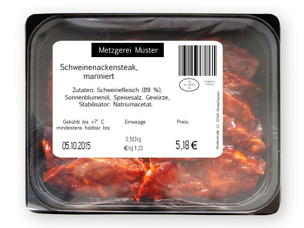 Thermotransferdruck auf der Produktverpackung