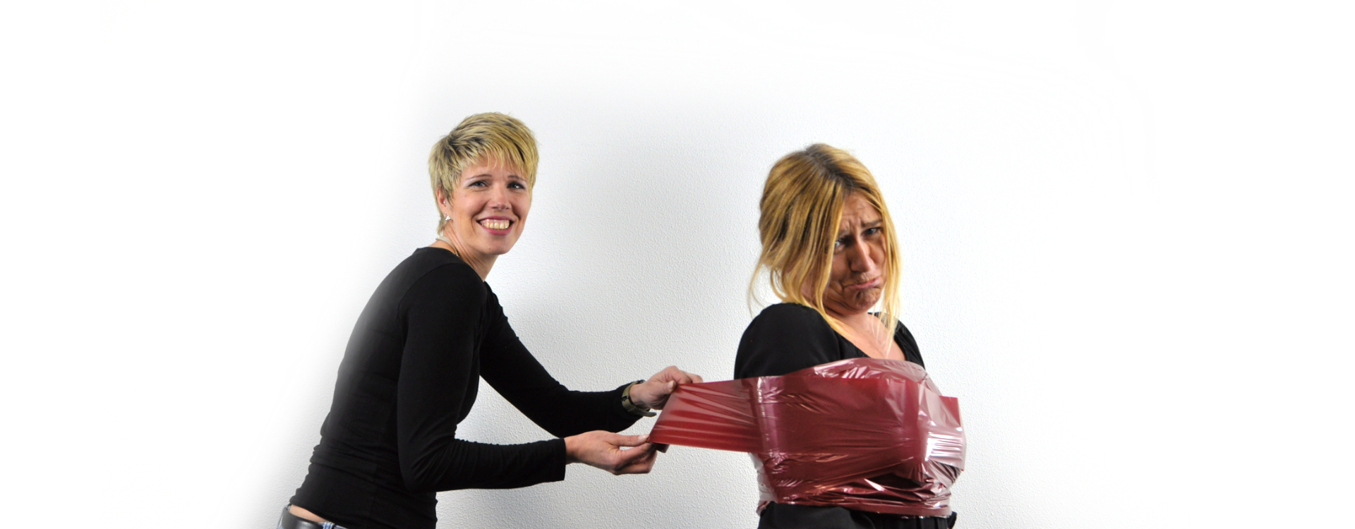 zwei Frauen und Thermotransfer-farbfolie von Tippl